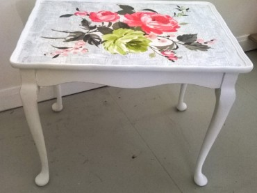 Upcycled Floral Table