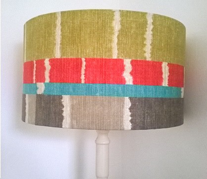 upcycled standard lamp with handmade drum shade