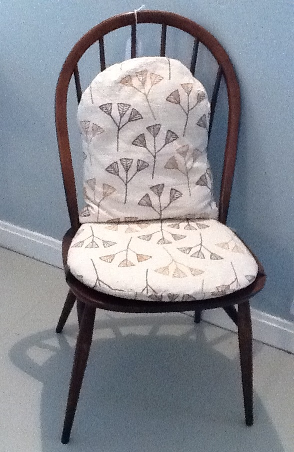 ercol chair with handmade cushions