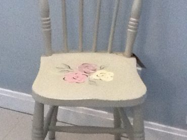Upcycled Floral Chair
