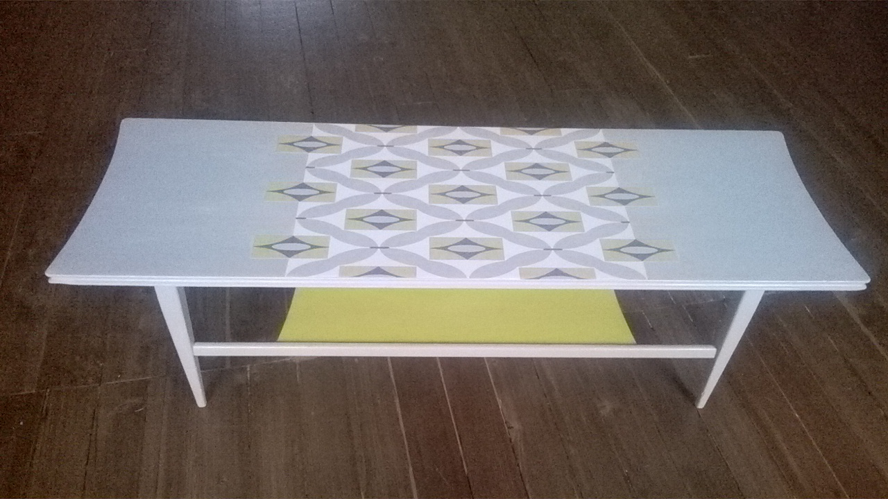 Upcycled Retro Coffee Table Redesign Network